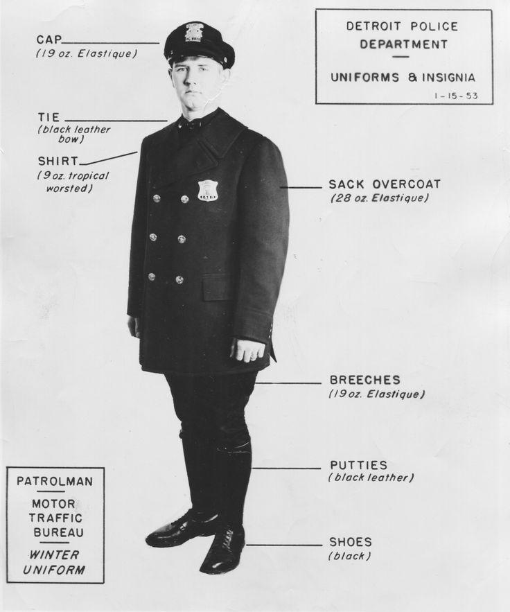 Detroit Police Uniforms March 12 1954, The Detroit News
