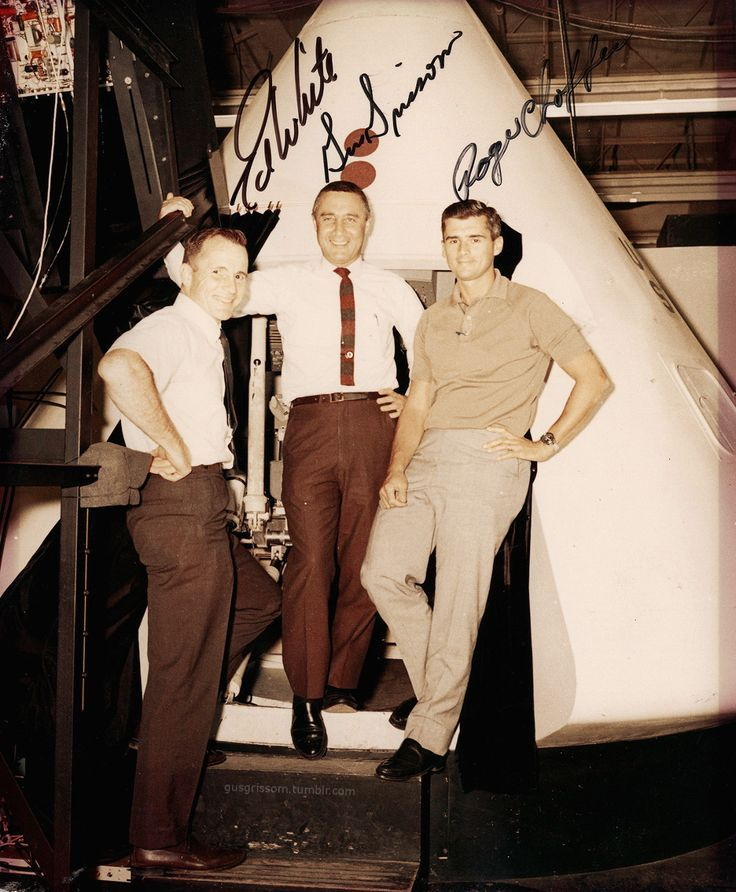 Apollo 1 crew - Ed White, Gus Grissom, Roger Chaffee