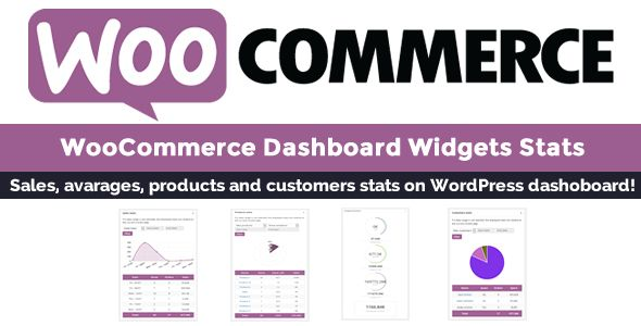 WooCommerce Dashboard Widgets Stats . The WooCommerce Dashboard Widgets Stats (WCDS) plugin gives to the shop admin a set of very intuitive and detailed stats directly on the Wordpress dashboard. All the stats you may need, at your