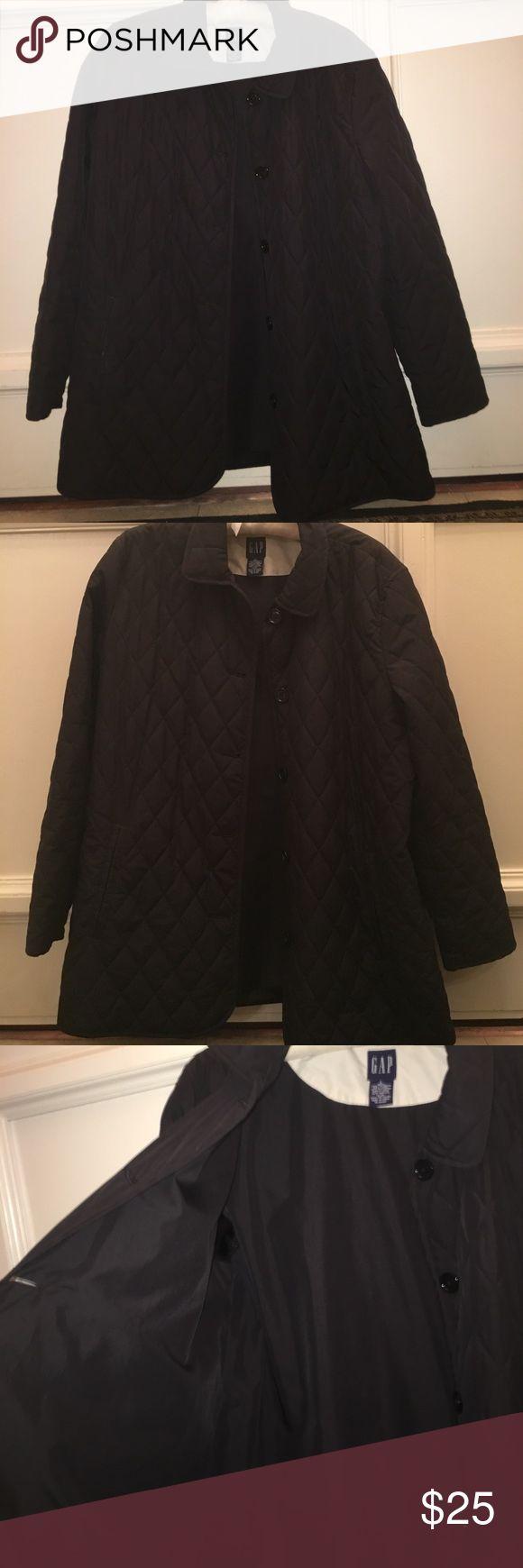 Barley worn GAP black water resistant cost Great condition. Black water resistant coat Jackets & Coats Utility Jackets