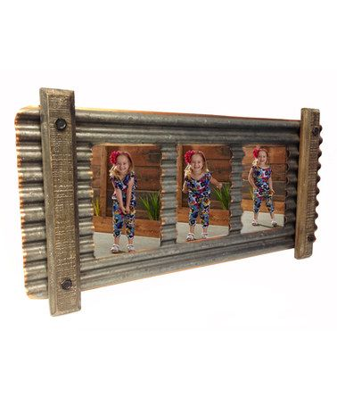 Look what I found on #zulily! Smoky Tin Corrugated Metal Triple Wall Frame #zulilyfinds