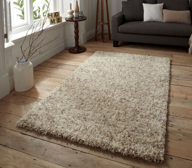 Contemporary Vista Collection 5cm Shag Pile Rug In Cream Interiordesign Contemporaryfurniture Furniture