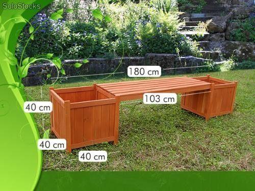 18 best maceteros madera images on pinterest garden deco for Muebles de jardin con tarimas