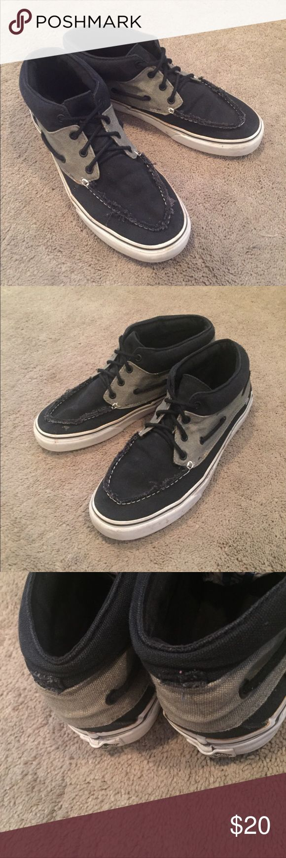 Vans boat shoes mid Good condition! I cut the heel tags off. Vans Shoes Boat Shoes