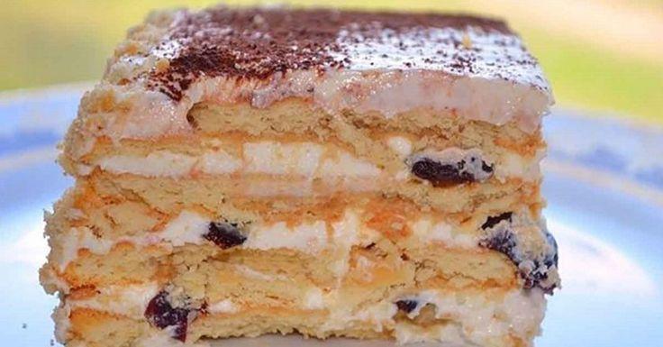 Торт с черносливом без выпечки