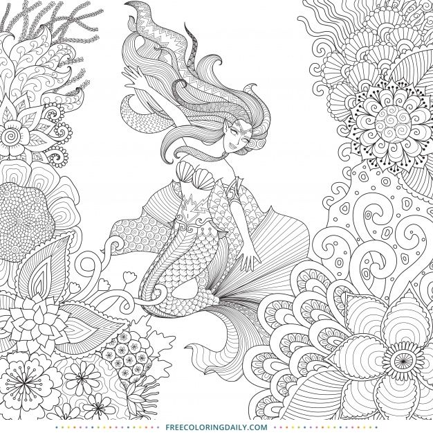 Welcome To Free Coloring Daily Thank You For Visiting Today Enjoy This Coloring Page Coloring Is A Gre Mermaid Coloring Pages Mermaid Art Beautiful Mermaids