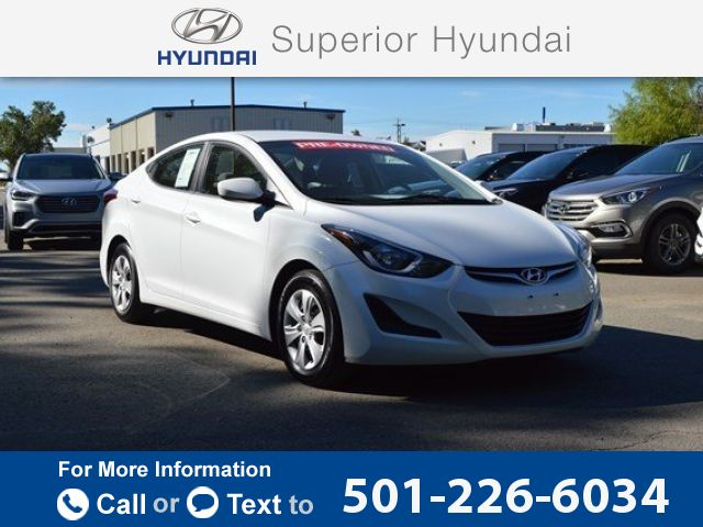 2016 *Hyundai*  *Elantra* *SE*  39k miles $14,018 39829 miles 501-226-6034 Transmission: Automatic  #Hyundai #Elantra #used #cars #SuperiorHyundai #Conway #AR #tapcars