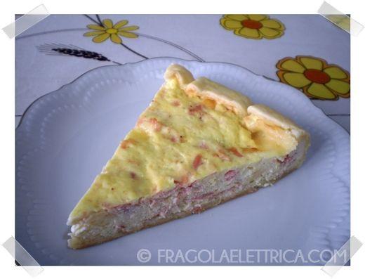 QUICHE DI PROSCIUTTO COTTO E SCAMORZA fragolaelettrica.com Le ricette di Ennio Zaccariello #Ricetta