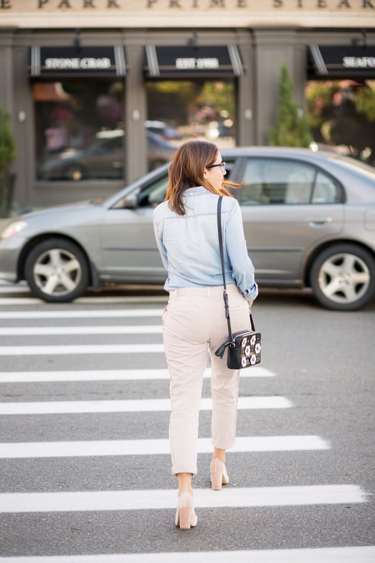How to style the perfect fall outfit | my fall capsule wardrobe on allweareblog.com | blush clothes for fall | chambray shirt
