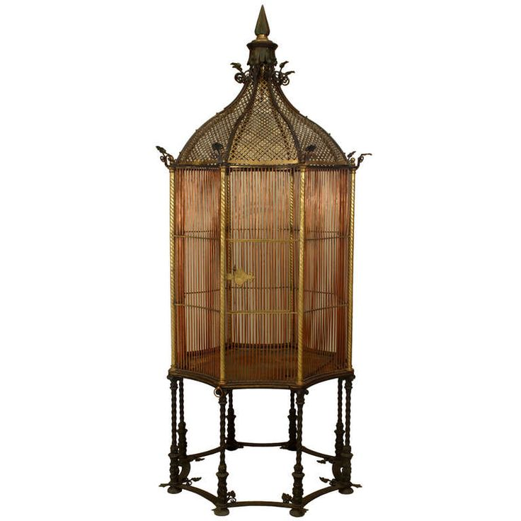 19th c. English Monumental Birdcage Patented by Henry Jones | From a unique collection of antique and modern bird cages at http://www.1stdibs.com/furniture/more-furniture-collectibles/bird-cages/