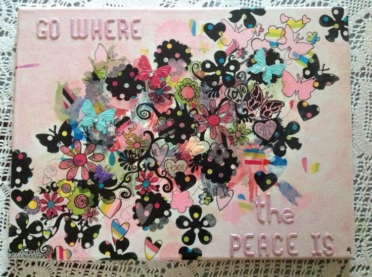 "My happy art""go where the peace is"" Artist: Shelley Keeble  Collage"