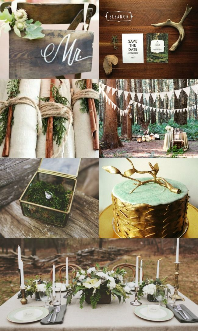 @Monica Murillo, Do you like anything about any of these images?...Woodsy wedding