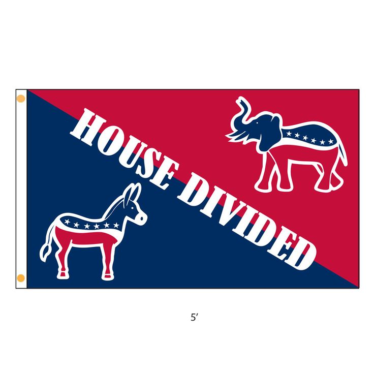 The Democrat Republican House Divided Flag is the perfect flag for families that don't always see eye to eye.
