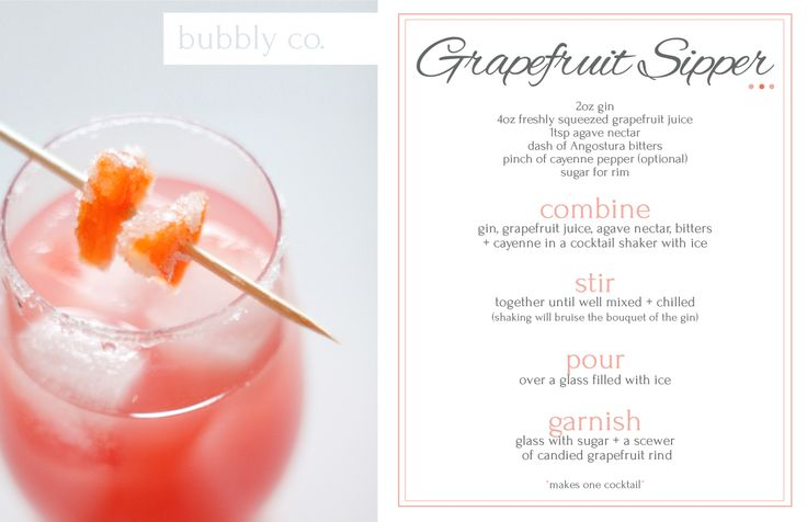 A tart + mellow cocktail; a refreshing addition to any menu.