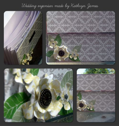 Wedding organiser using Kaszazz products, made by Kathryn James Sept 2013.
