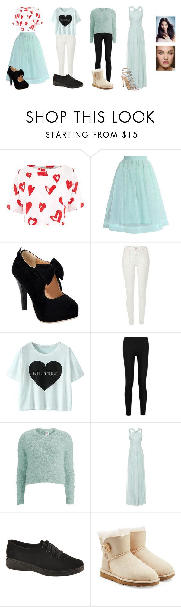 """""""Modern Eliza Hamilton-Schuyler   Hamilton"""" by broadwayfangirl ❤ liked on Polyvore featuring Être Cécile, Chicwish, River Island, Donna Karan, Vero Moda, Elie Saab, Grasshoppers, UGG Australia, Sergio Rossi and modern"""
