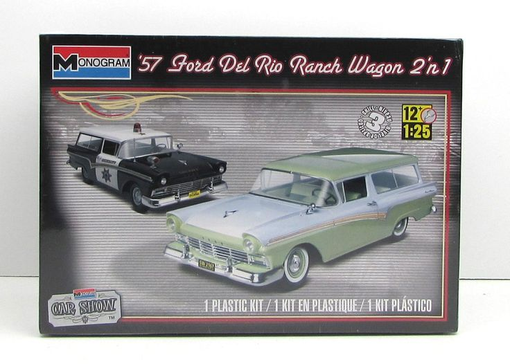 1957 Ford Del Rio Station Wagon Monogram 85-4193 1/25 New Car Model Kit - Shore Line Hobby