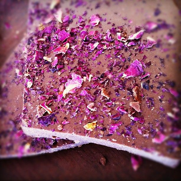 AmbROSEia - Hand Crafted Raw Chocolate with Rose Water, Rose Powder, Rose Petals, Rose Tincture - created by Malcolm Saunders, the Chocolate Maestro :)