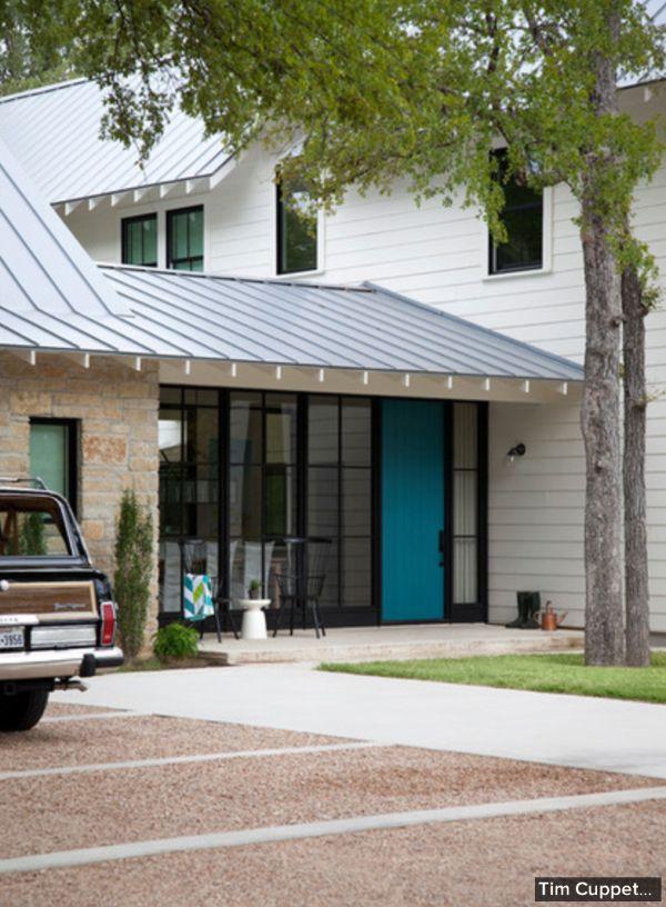 Modern Farmhouse Tim Cuppett Architects Austin Texas Kitchen Stone Exterior