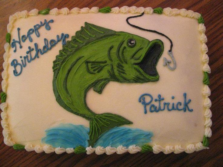 Best 25 fishing birthday cakes ideas on pinterest for Fish cake design