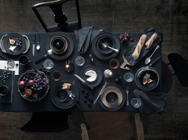 Deco table automne noir