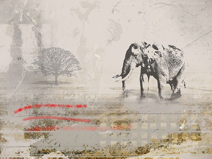 Elephant Nomad - Art Print by André Pillay on www.digitalgallery.co.za  #prints #wildlife #gamelodgeart #wildlifeart #PrintWild  #safari  #africanart