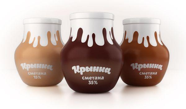 """""""Krinka"""" Sour Creame by Pavel Kulinsky, via Behance"""