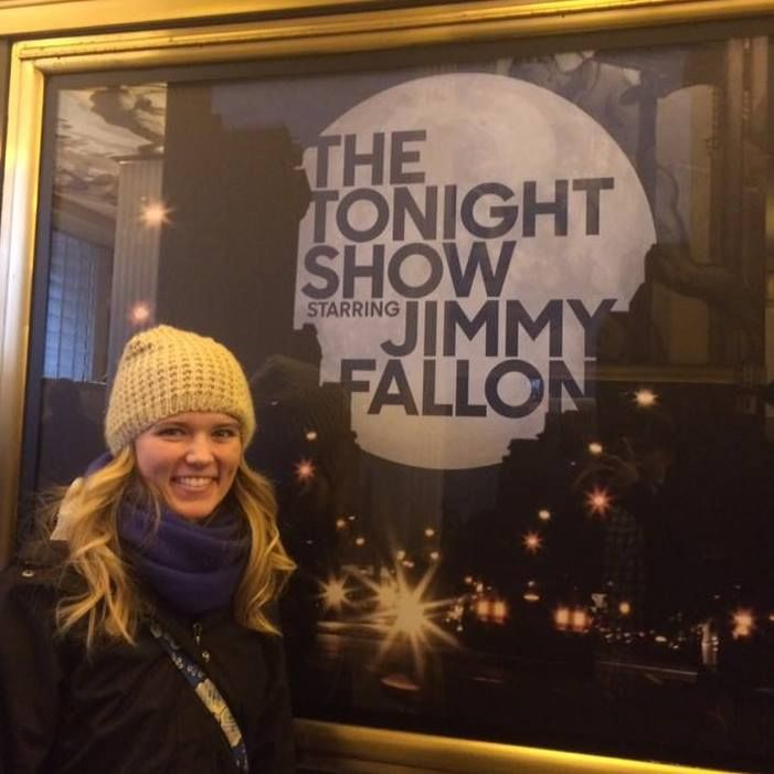 I don't really have obsessions with many celebrities, but Jimmy Fallon is my number one. If I could choose to be anything, I would want his job and enthusiasm. I had the opportunity to go on a trip of a lifetime for christmas break and get VIP tickets to the Tonight Show. UNBELIEVABLE.