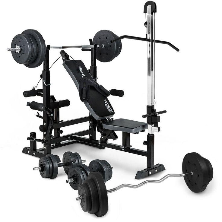 Trex Hantelbank 075 Latzug Lang Curl Kurzhantel Stange Gewichte Bis 160kg Stationary Bike Weight Gym Equipment