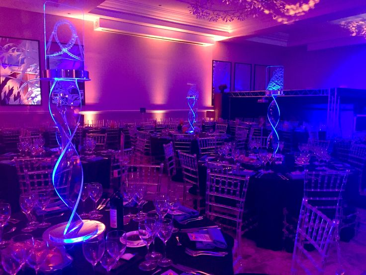 LED roller coaster edged centrepieces