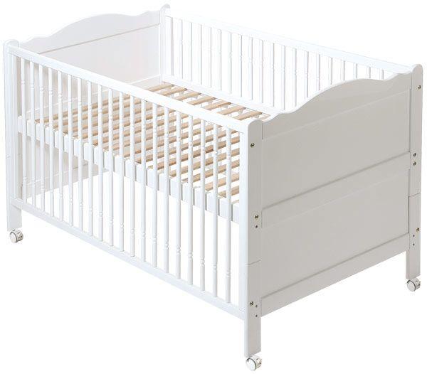 EASY BABY Kinderbett Buche gedrechselt Weiß | Babyartikel.de