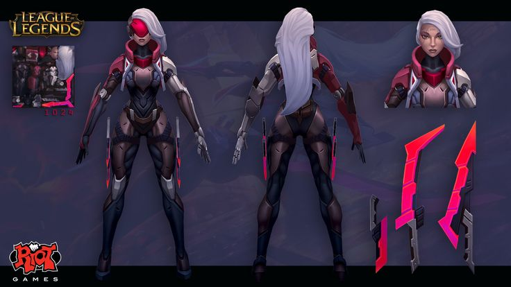This is Katarina's Project skin for League of Legends!  I just want to say I'm blown away and really proud to have the opportunity to work with such an incredible group of people, and on a skin line that I love so much.   Original concept by Paul Hoefener.  Splash art by Esben Rasmussen https://www.artstation.com/artist/lash