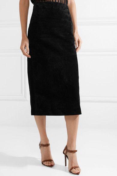 8a16411e56 Saint Laurent | Suede midi skirt | NET-A-PORTER.COM | Favorite ...