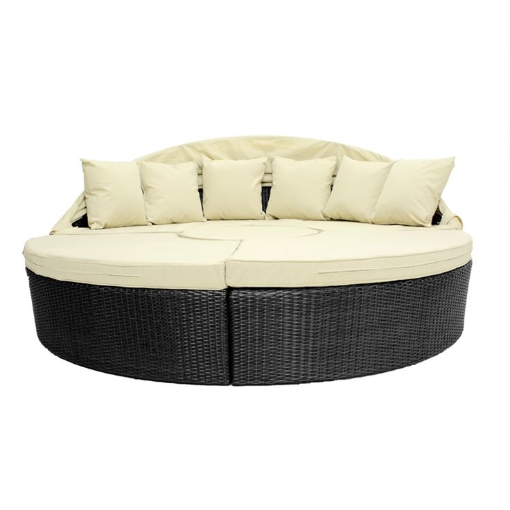Wicker Black Daybed Cool Designs