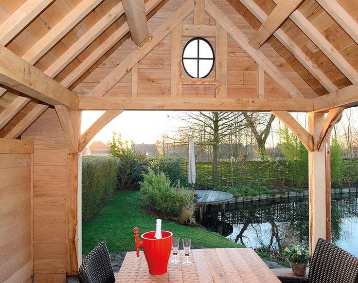 landelijke terrasoverkapping in hout   Houten overkappingen en aanbouw in hout   Livinlodge