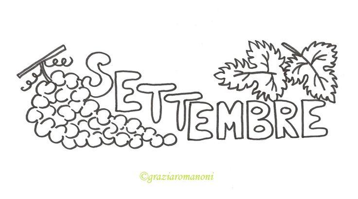 Calendario per bambini, colora settembre