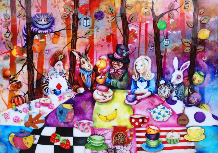 Mad Hatters Tea Party - Kerry Darlington. Fav book....Alice and the Looking Glass! Must read!
