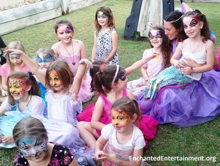 Lotus Fairy Goddess, Birthday Girl & Friends! Character entertainment & face painting by EnchantedEntertainment.org  Character Parties, Face Painting & Entertainment for Children  Northern NSW & Gold Coast, Australia