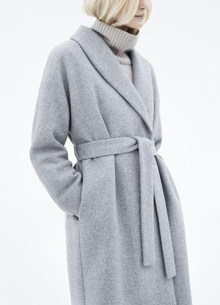 Цена: 950 грн. - Шикарное пальто халат oт yessica  Состав: шерсть Цвета: Серый. Купить в Шафа. Недорогие, но качественные товары по доступной цене!