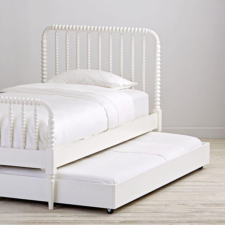 Jenny Lind White Trundle Bed