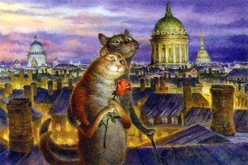 White nights in Petersburg by Vladimir Rumyantsev