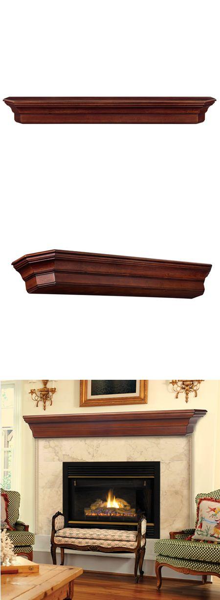 Lindon Cherry Distressed Fireplace Mantel Shelf | WoodlandDirect.com