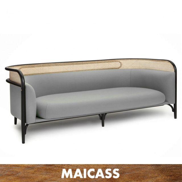 Modern Wood Frame Lounge Garden Outdoor Rattan Sofa Us 388