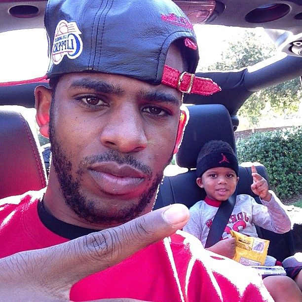 (Photo by cp3) Chris Paul riding around with his son. #nbafamily #kids #family