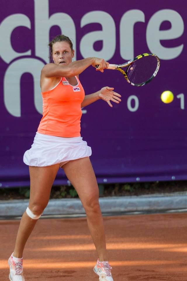7/11/14 Danka Kovinic upset #4-Seed Karin Knapp in the 2nd rd of the Bucharest Open.