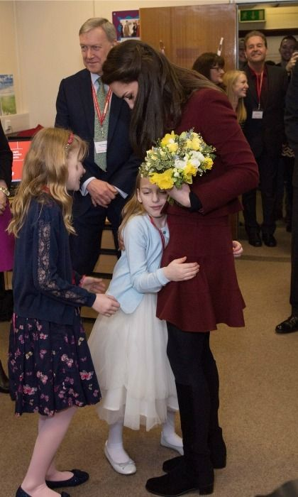Meeting a member of the royal family can induce a number of emotions ranging from bashfulness to laughter and sometimes sheer terror — that is, when it comes to children! Click through for a look at the best reactions from kids meeting some of our favorite royals.  A hug from a princess! Forget protocol, a little girl named Ypapanti Galimatakis decided to shower Kate Middleton with hugs during her visit to MIST, a child and adolescent mental health project, as part of Action for Children.