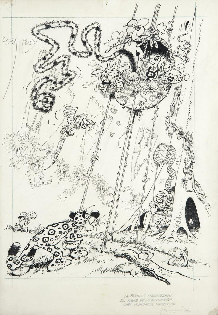 Go to this site http://franquin.tumblr.com/ to see some amazing art from André Franquin