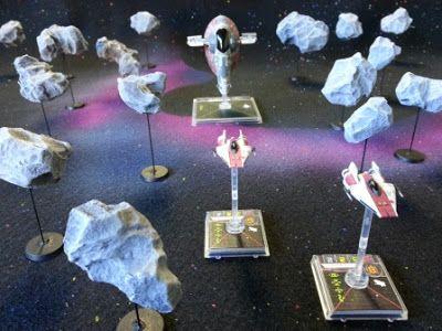 Hobby Before I Die!: Star Wars X-Wing Miniatures Game - DIY Asteroids!