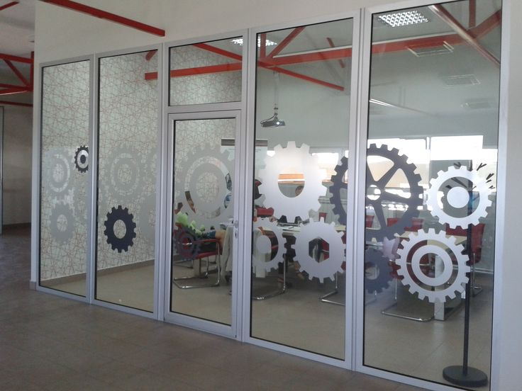 Meeting room - gears on the glass