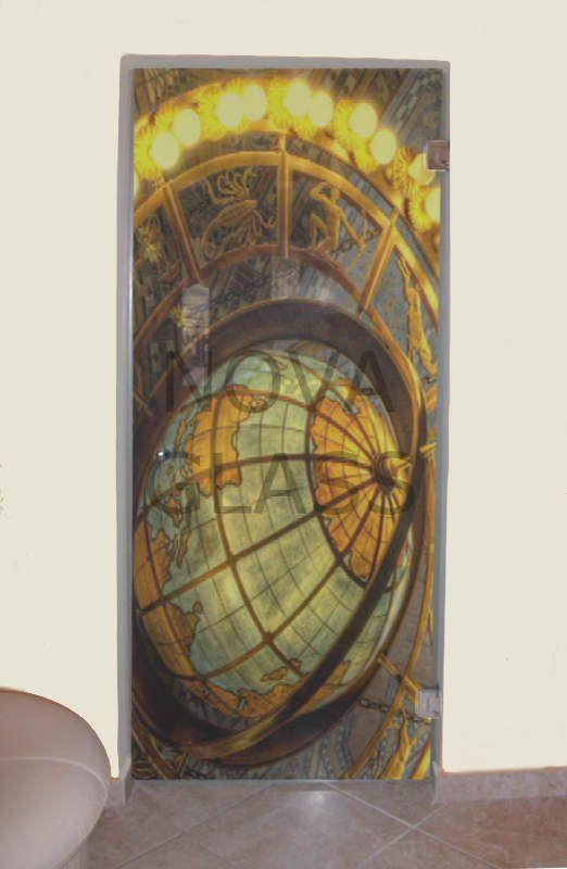 Γυάλινη πόρτα 80Χ200 με ψηφιακή εκτύπωση